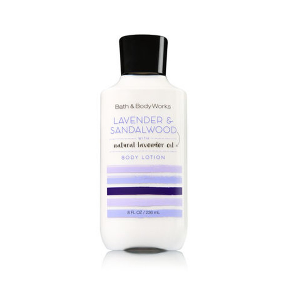 Bath & Body Works Lavender And Sandalwood With Natural Lavender Oil Body Lotion 236ml