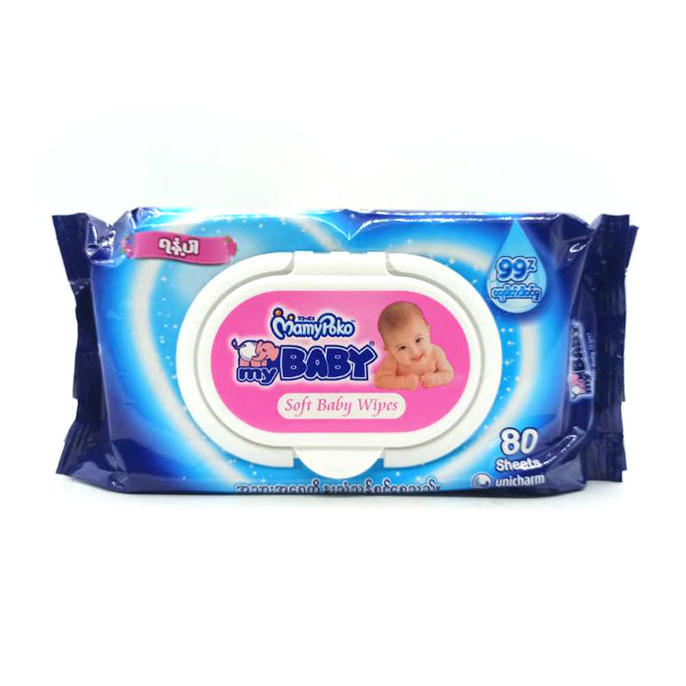 Mamy Poko My Baby Soft Baby Wipes 80's (Scented)