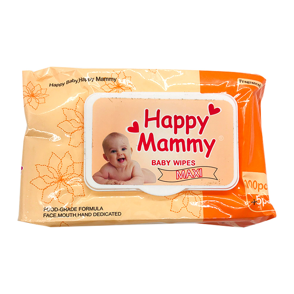 Happy Mammy Baby Wipes Maxi 105's