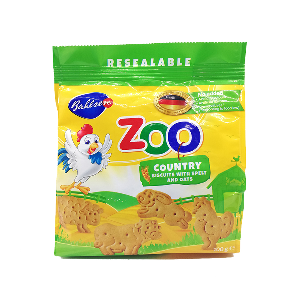 Bahlsen Zoo Country Biscuits With Spelt And Oats 100g