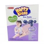 Happy Bites Baby Rice Rusks Blueberry 50g (6 Months+)