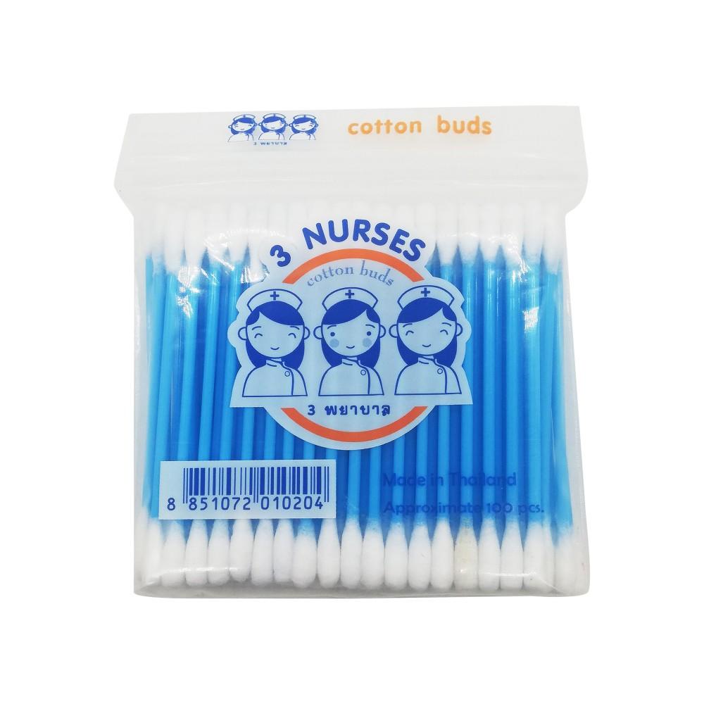 3-Nurses Cotton Buds 100's