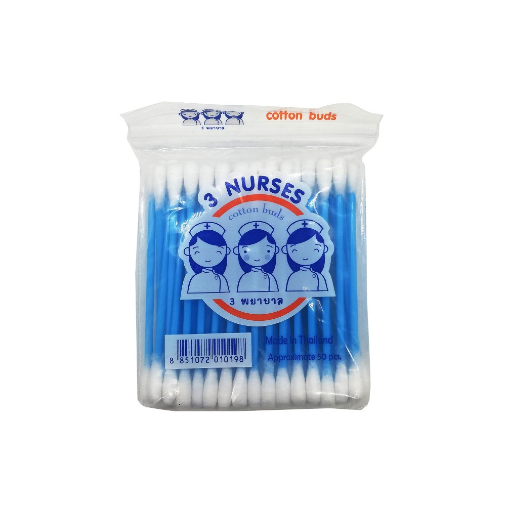3-Nurses Cotton Buds 50's