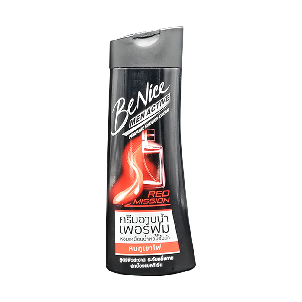 Be Nice Men Active Shower Cream Red Mission 180ml