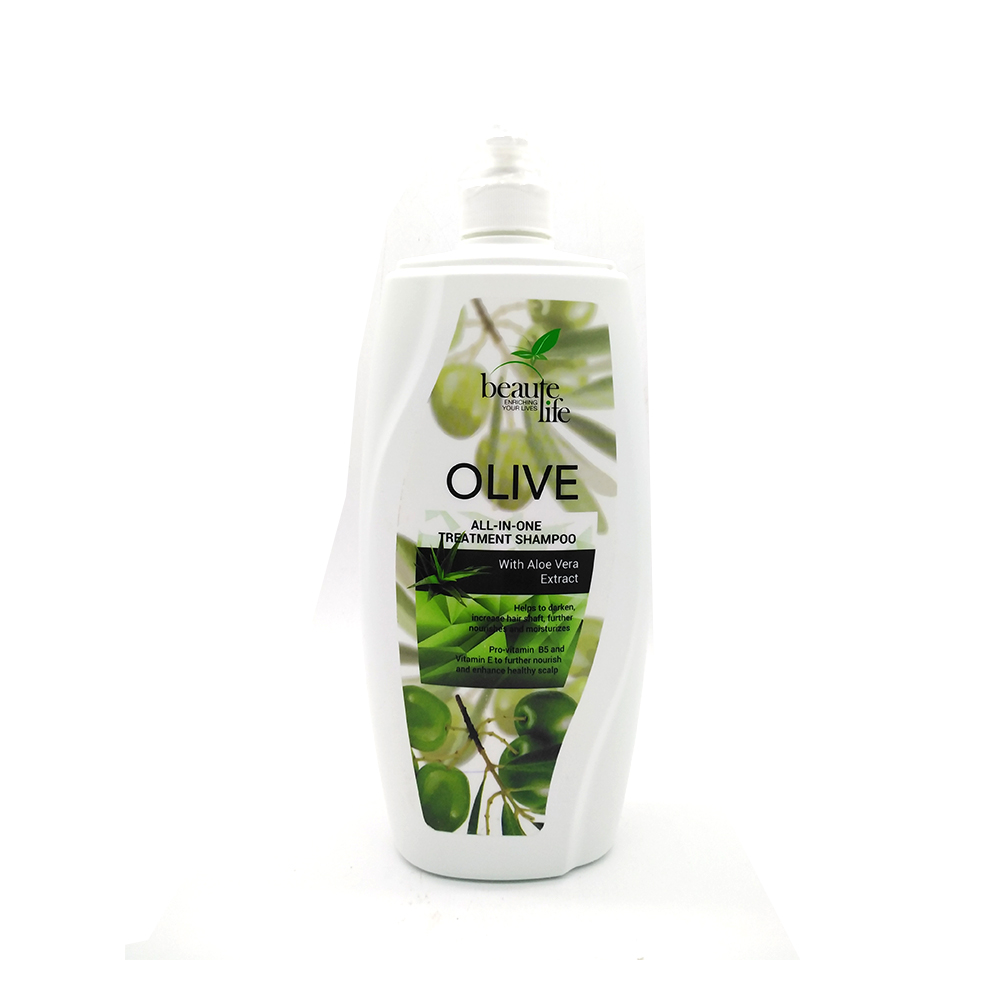 Beaute Life All In One Treatment Shampoo Olive With Aloe Vera Extract 1000ml