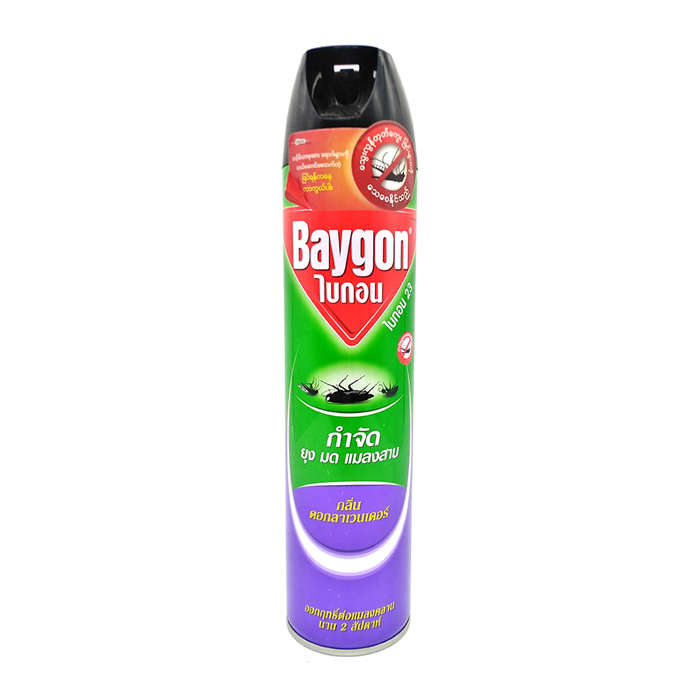 Baygon Flying Insect Killer Spray With Lavender 600ml