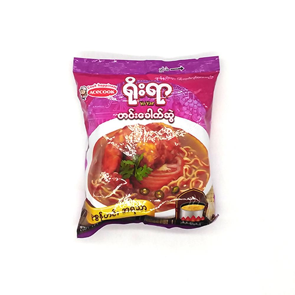 Acecook Yo Yar Curry Instant Noodles Shrimp Curry Flavour 55g