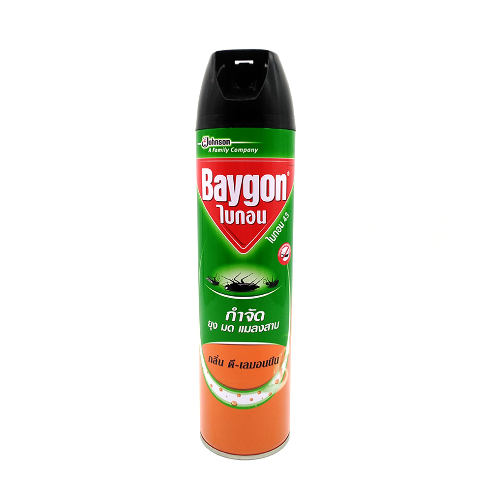 Baygon Insect Killer Spray With Lemon 600ml