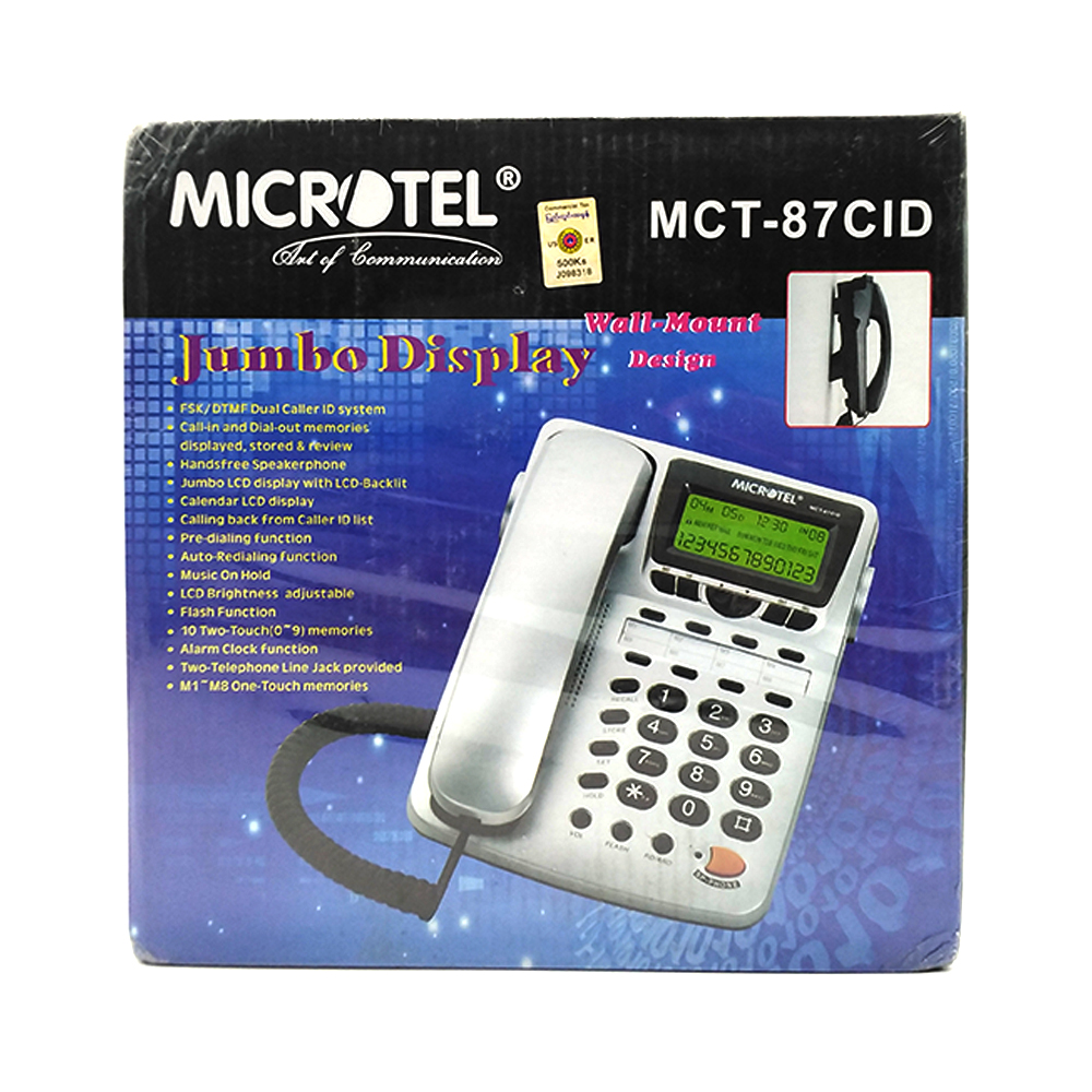 Microtel Home Phone Wall-Mount Design MCT-87CID