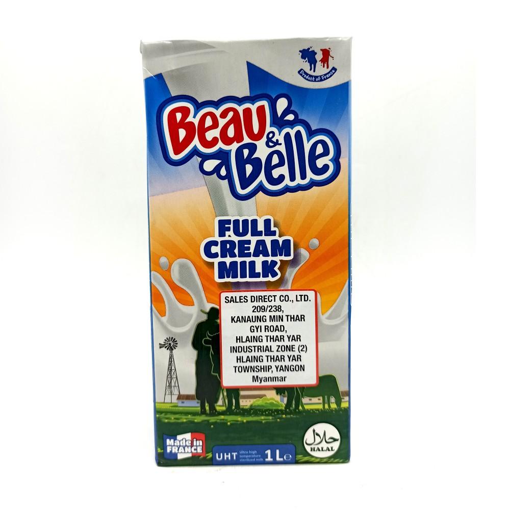 Beau & Belle Full Cream Milk 1Ltr