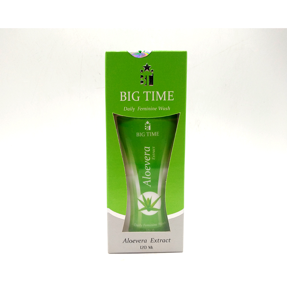 Big Time Daily Feminine Wash With Aloevera Extract 120ml