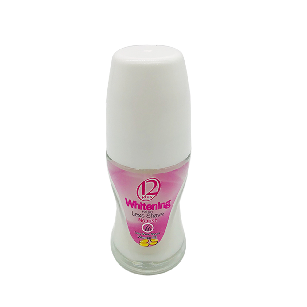 12 Plus Whitening Roll On Less Shave Nourish 25ml