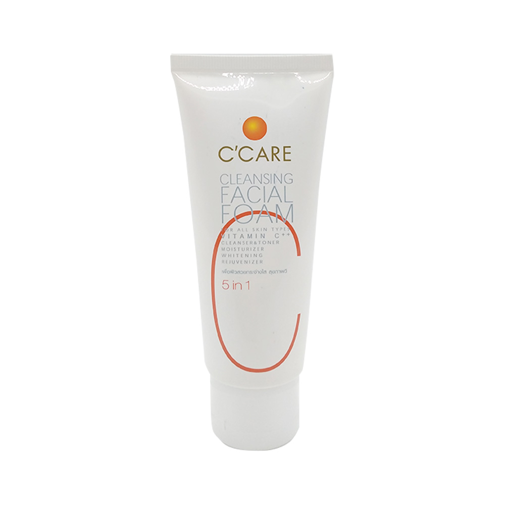 C'Care 5 in 1 Vitamin C Cleansing Facial Foam 50g