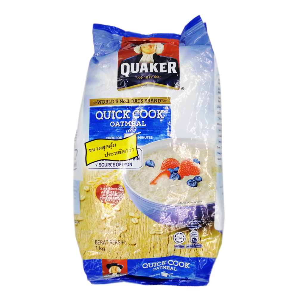 Quacker Quick Cooking Oatmeal 1kg (Blue)