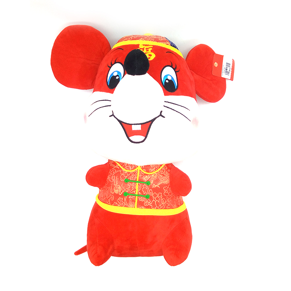 Chinese New Year Doll Mouse Character With Blouse 42cm