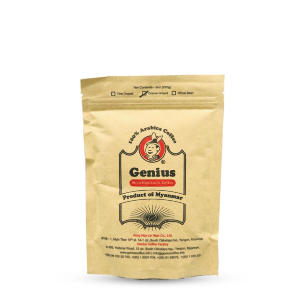 Genius 100% Arabica Coffee Coarse Ground 220g