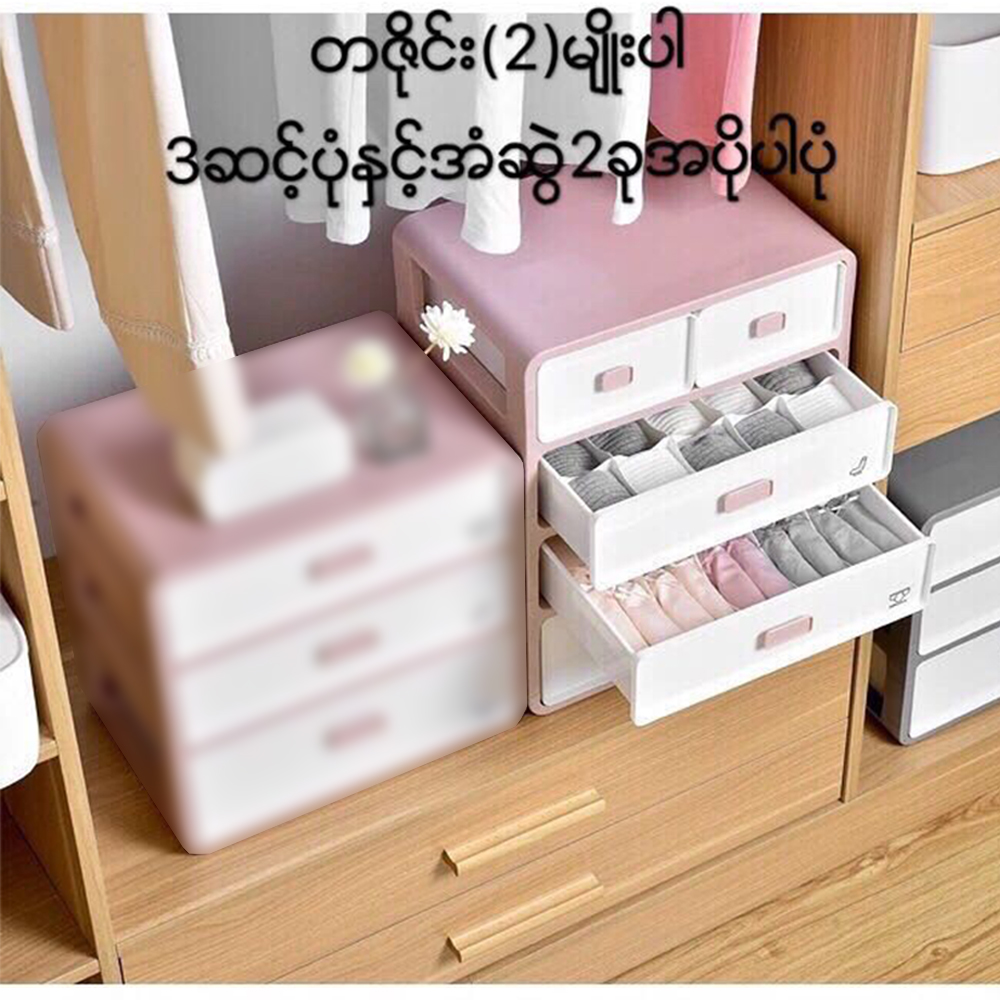 Easy Life Underwear Storage 3+2 Drawers Box Size-35x26x44.5cm
