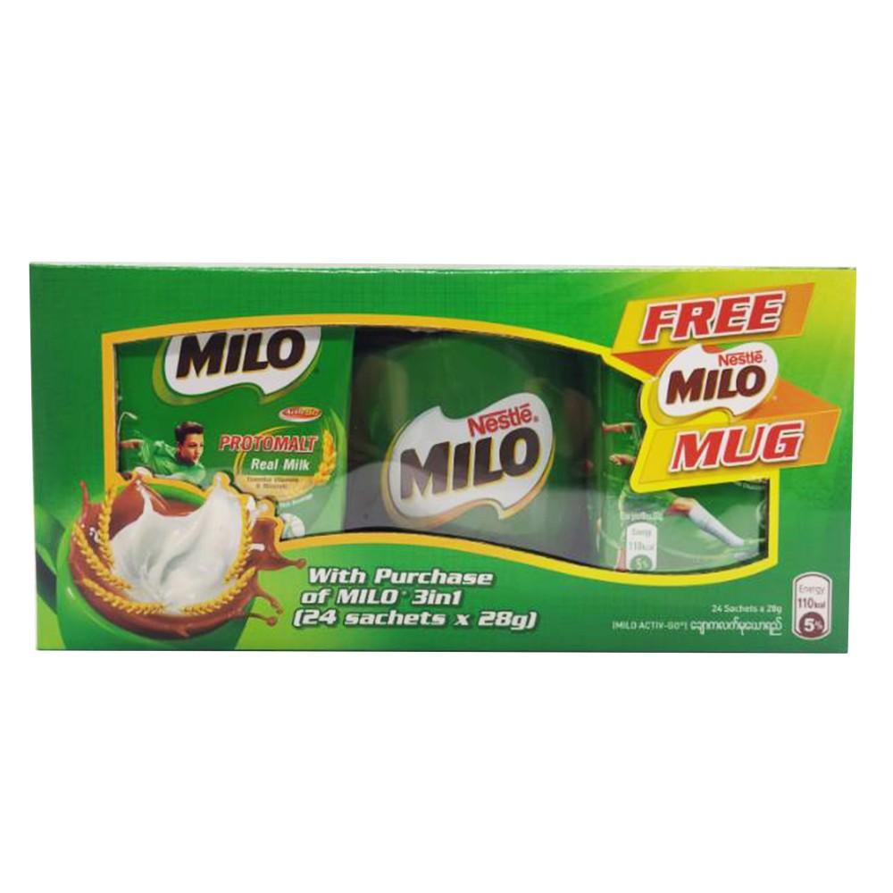 Nestle Milo Protomalt Real Milk 3 in 1 24's 672g