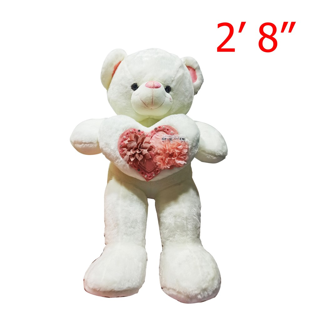 """Bear Character Doll With Heart 2' 8"""""""