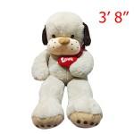 "Bulldog Character Doll With Heart 3' 8"""