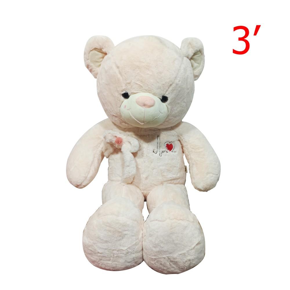 Bear Character Doll With Riband 3'