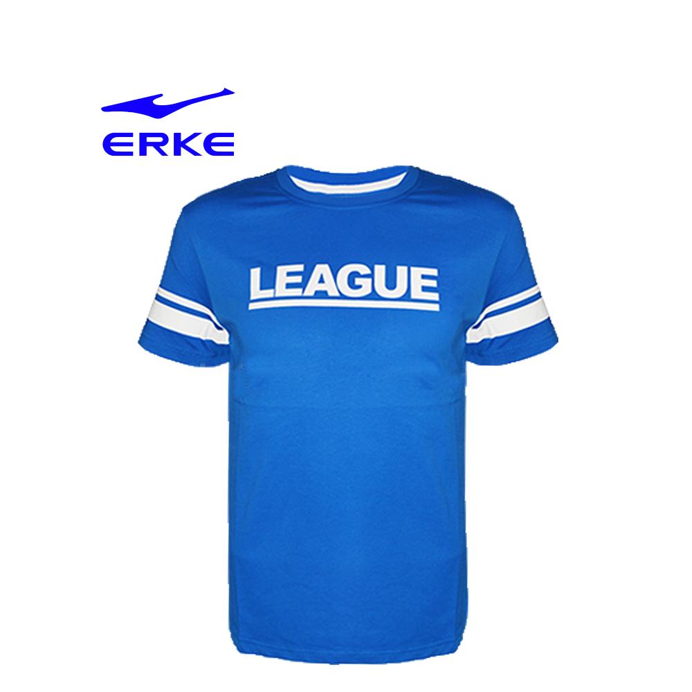 Erke Men Crew Neck T Shirt S/S No-11217219502-603 Blue Size-L