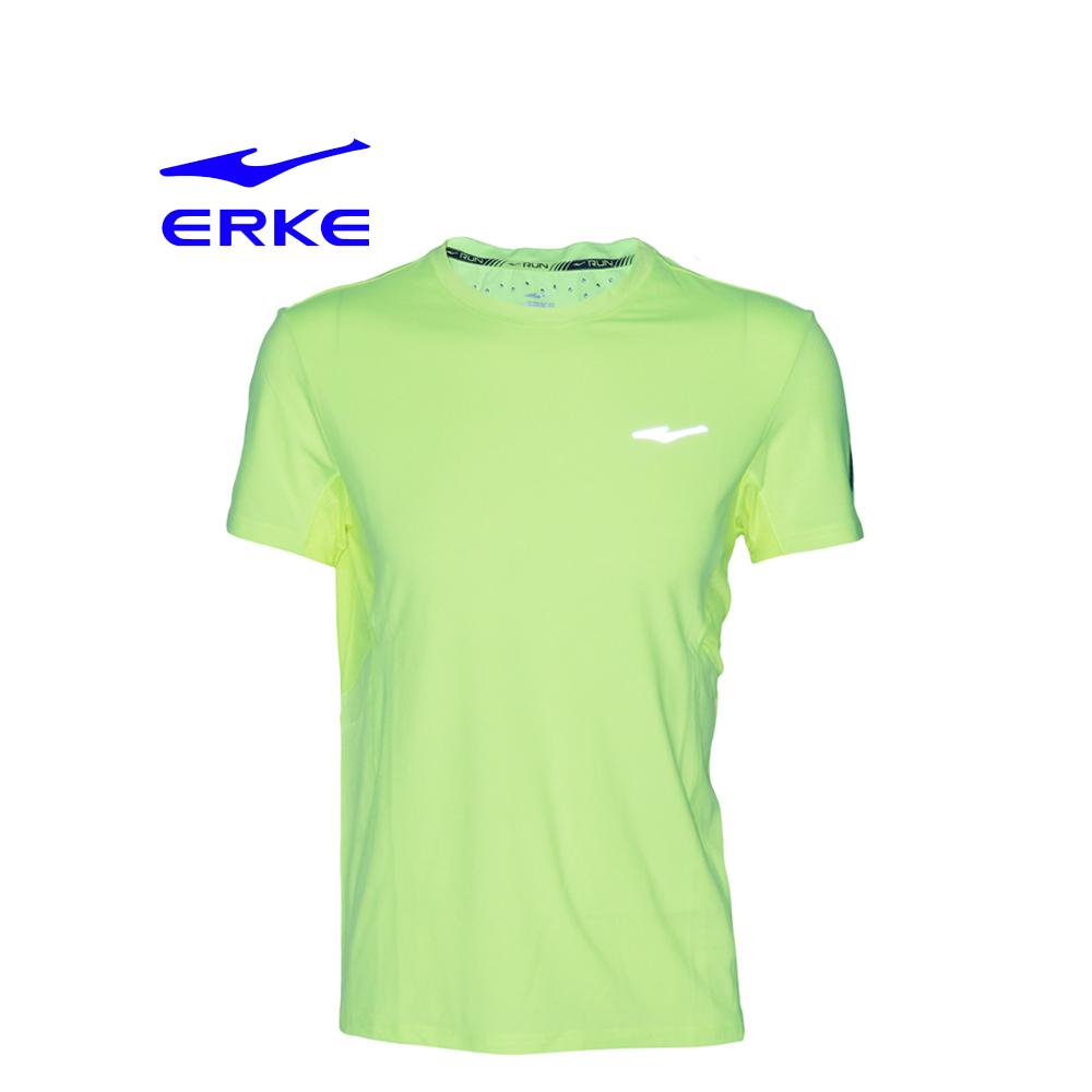 Erke Men Crew Neck T-Shirt S/S No-11217119346-401 Acid Yellow Size-L