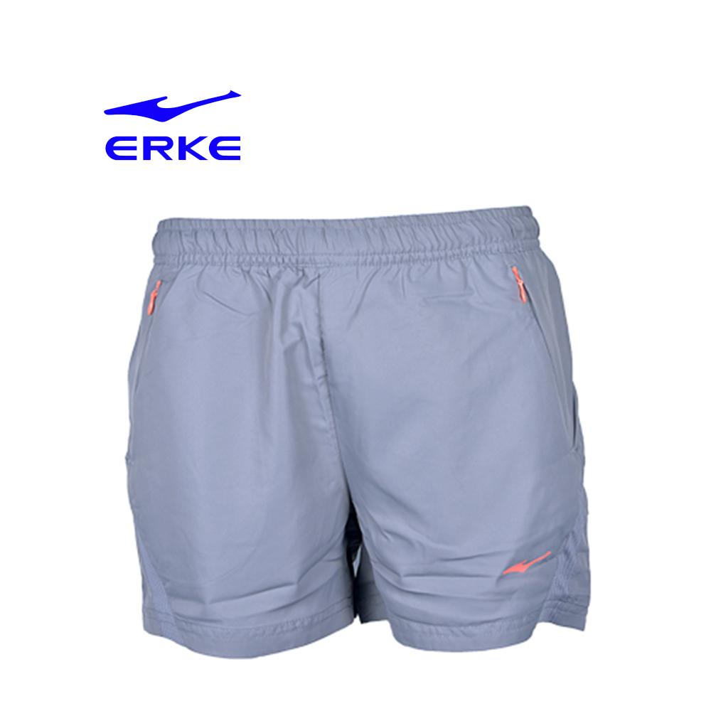 Erke Women Sports Short Pants No-12217254371-101 L.Grey Size-2XL