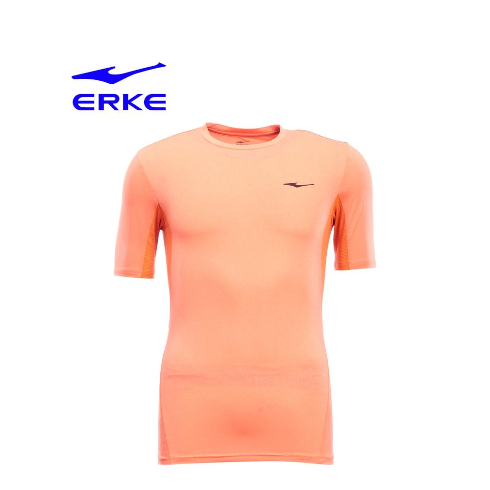 Erke Men Crew Neck T Shirt S/S No-11217219174-302 Fire Size-S