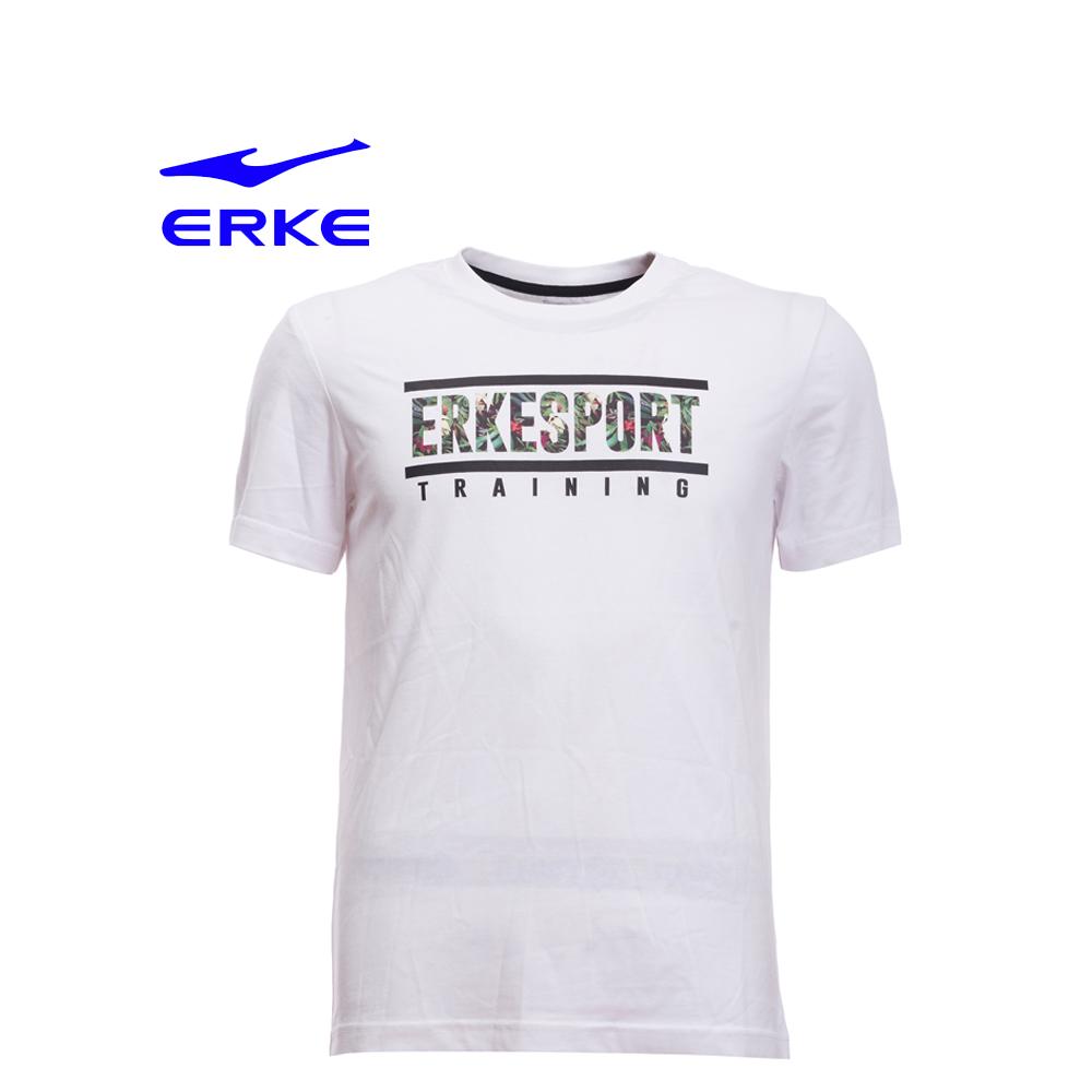 Erke Men Crew Neck T Shirt S/S No-11217219194-001 White Size-2XL