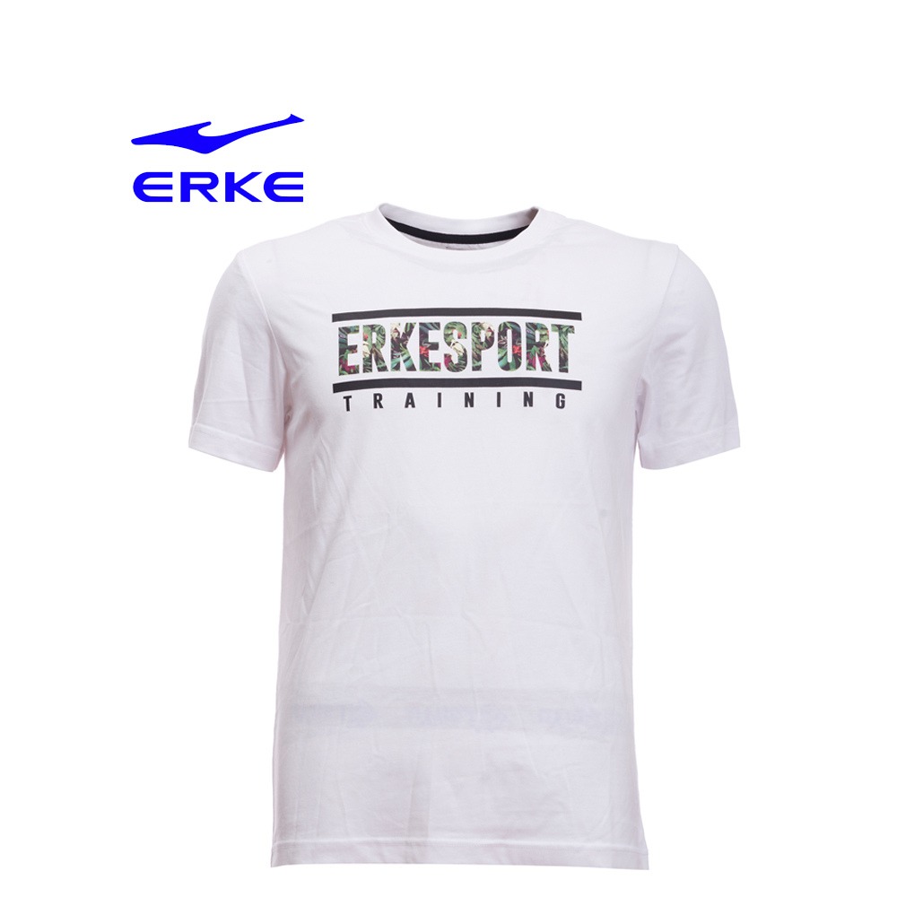 Erke Men Crew Neck T Shirt S/S No-11217219194-001 White Size-M