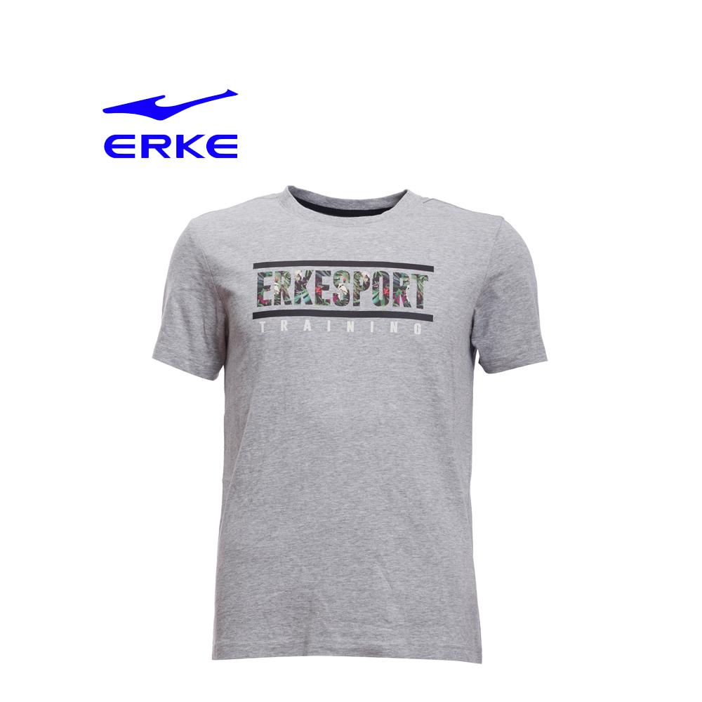 Erke Men Crew Neck T Shirt S/S No-11217219194-122 L.Heather Grey Size-2XL