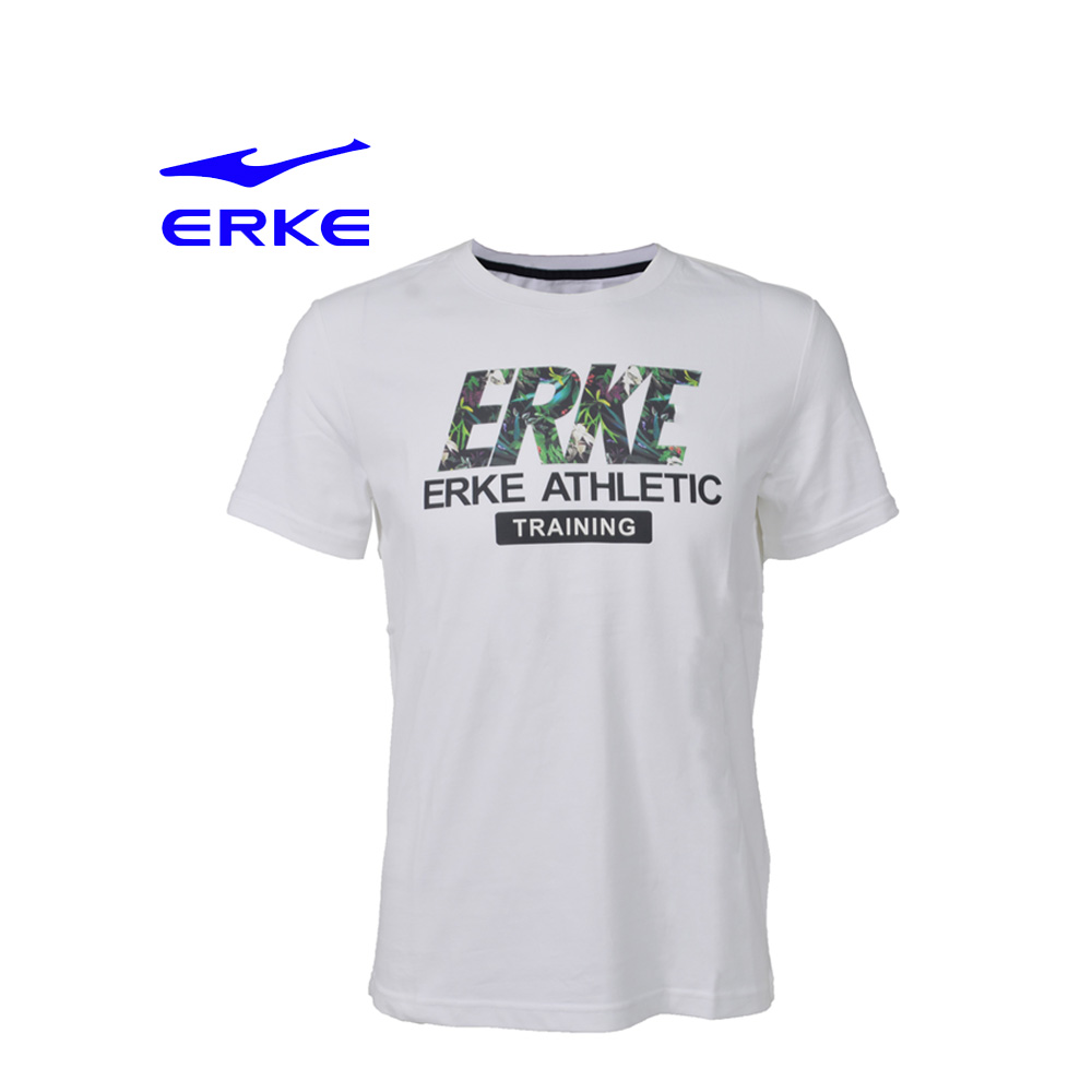 Erke Men Crew Neck T Shirt S/S No-11217219196-021 White Size-L
