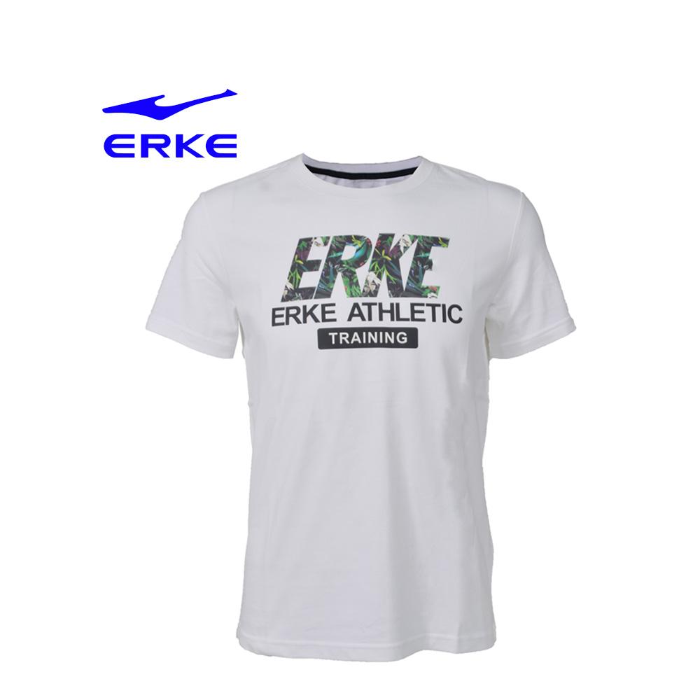 Erke Men Crew Neck T Shirt S/S No-11217219196-021 White Size-2XL