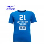 Erke Men Crew Neck T Shirt S/S No-11217219305-621 Blue Size-XL