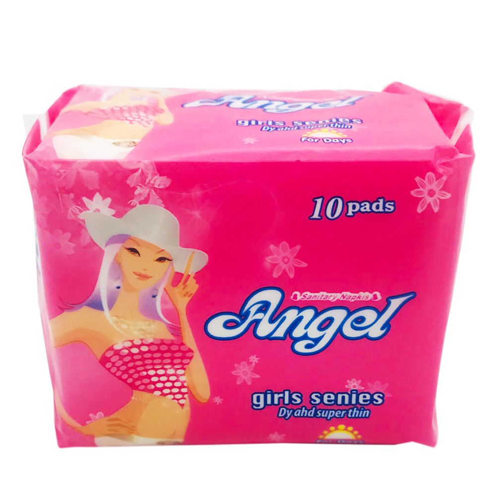 Angel Sanitary Napkin Girl Series Wing Perforated Day 10's
