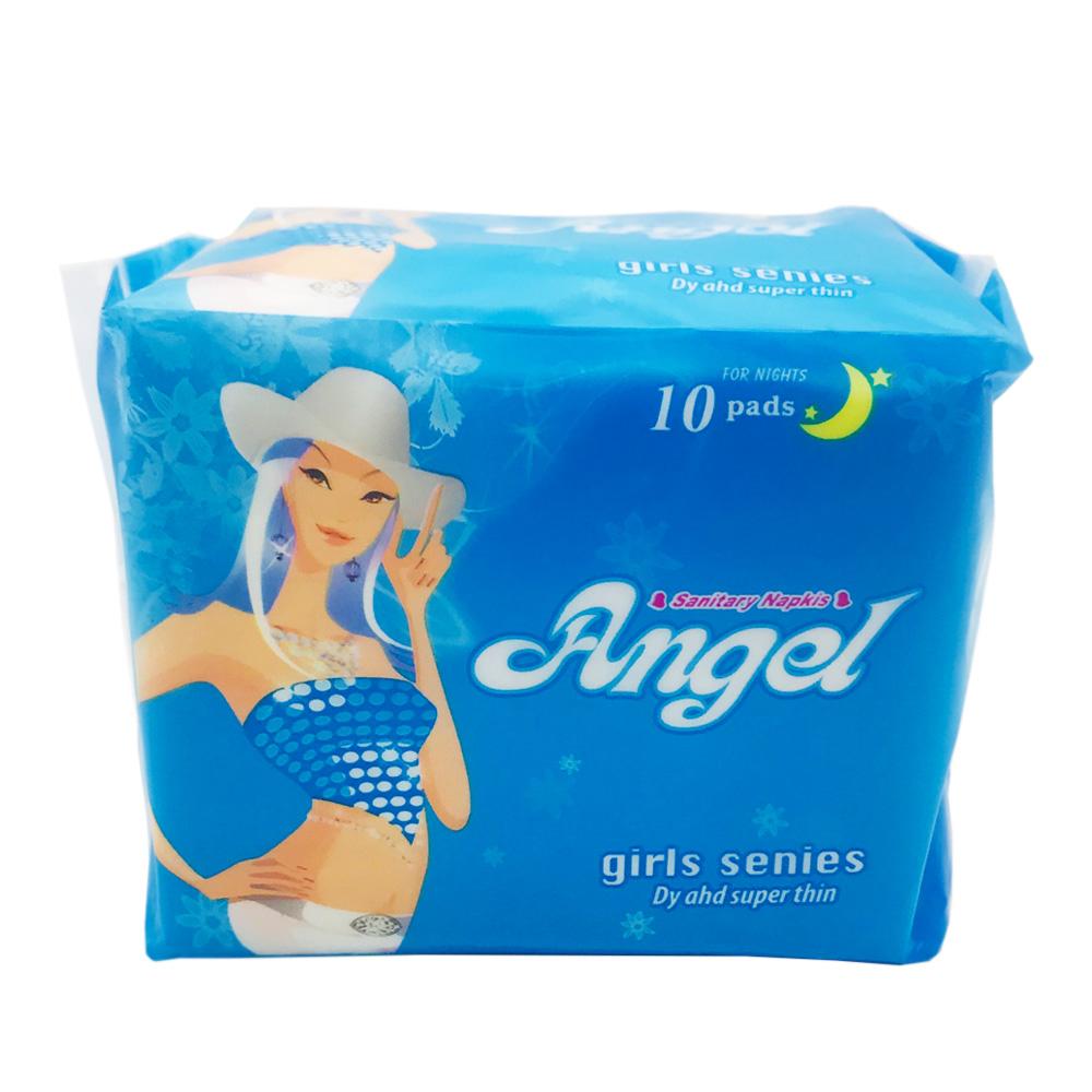 Angel Sanitary Napkin Girl Series Wing Perforated Night 10's