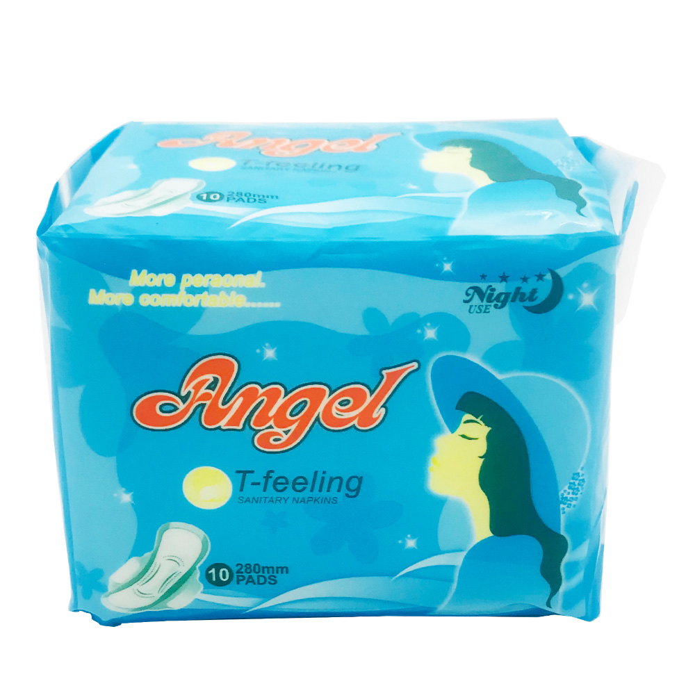 Angel Sanitary Napkin T-Feeling Wing Perforated Night 10's