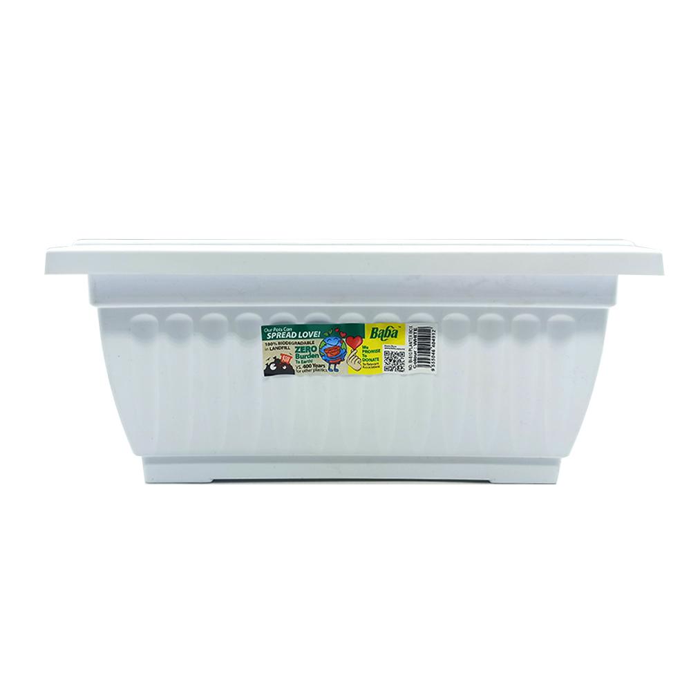 Ba Ba Flower Planter Box Pot BI-510 White