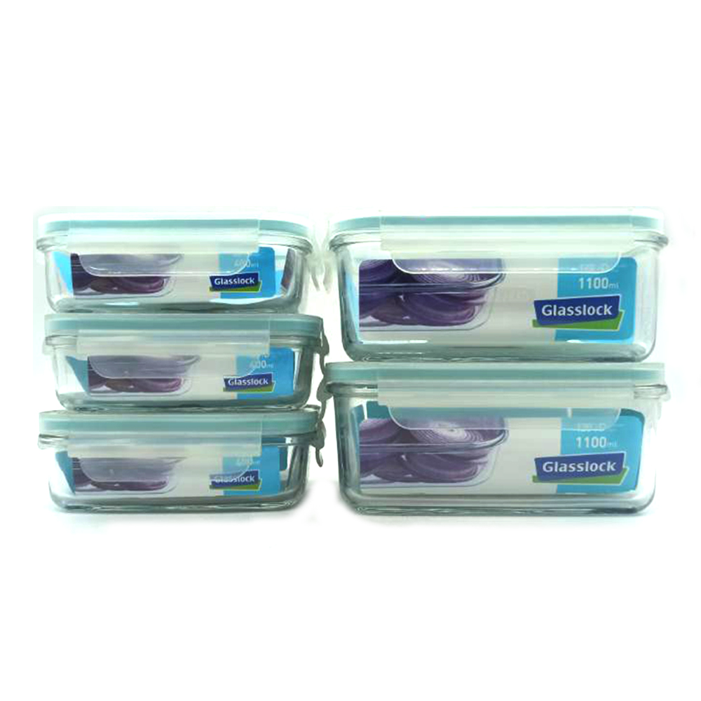 Glasss Lock Food Container 5's GL07