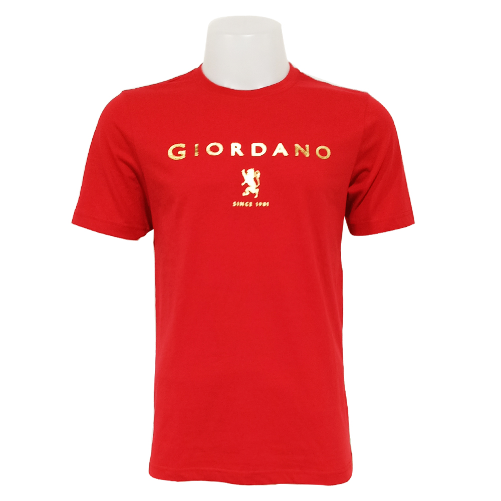 Giordano Men T Shirt Short Sleeve No-30l-P Size-StoXl (Haute Red)