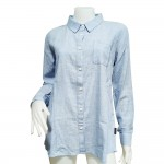 Giordano Lady Shirt Long Sleeve No-30l-P Size-StoXl (04-Bel Air Blue)