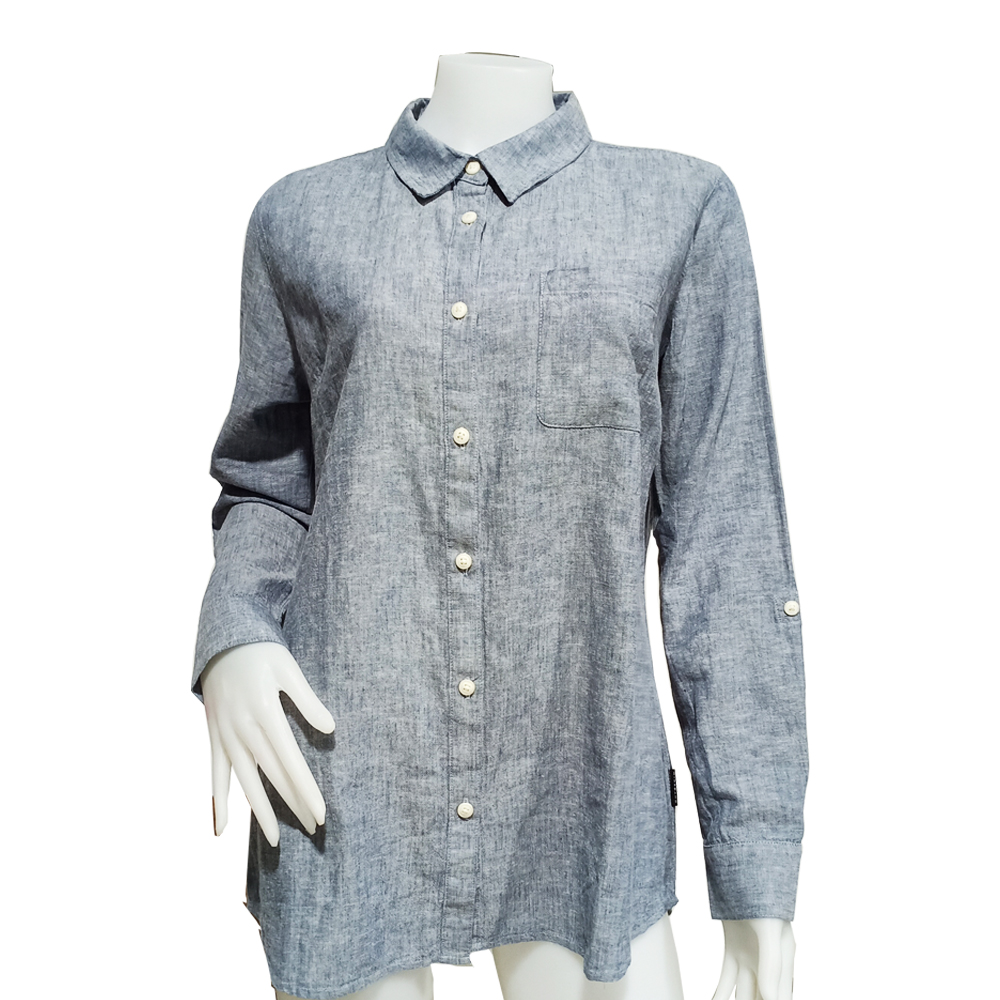 Giordano Lady Shirt Long Sleeve No-30l-P Size-StoXl (03-Vinitage Indigo)