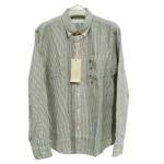 Giordano Men Shirt Long Sleeve No-15l-E Size-StoXl (Blue STR)