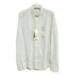 Giordano Men Shirt Long Sleeve No-15l-E Size-StoXl (Green/Black/White STR)