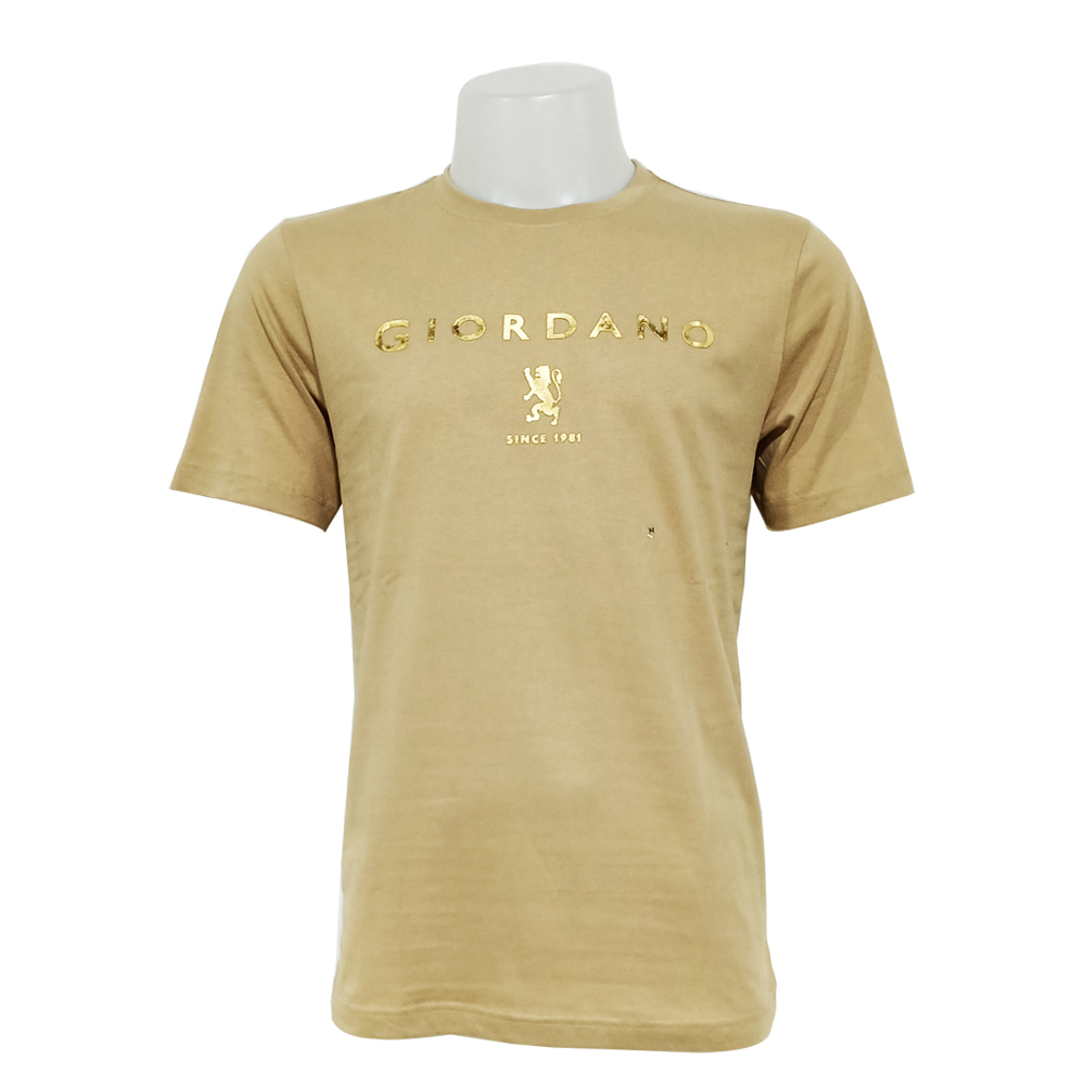Giordano Men T Shirt Short Sleeve No-30l-P Size-StoXl (Crockery)