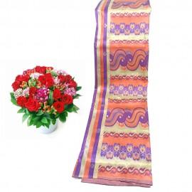 Golden Silk Women Fabric Longyi (Golden Loon Chate Hlaing Amate Pwa)