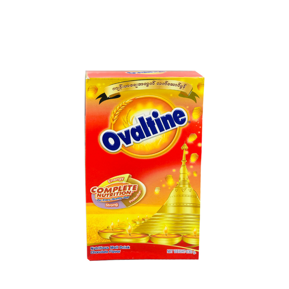 Ovaltine Nutritious Malt Drink Chocolate 430g (Box)