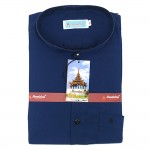 Mandalay Men Color Shirt S/S (Three Rifle Thar Lel Gatone) (FOC-Buy 5pcs Get 1pcs Mya Kyar Phyu Men Longyi)