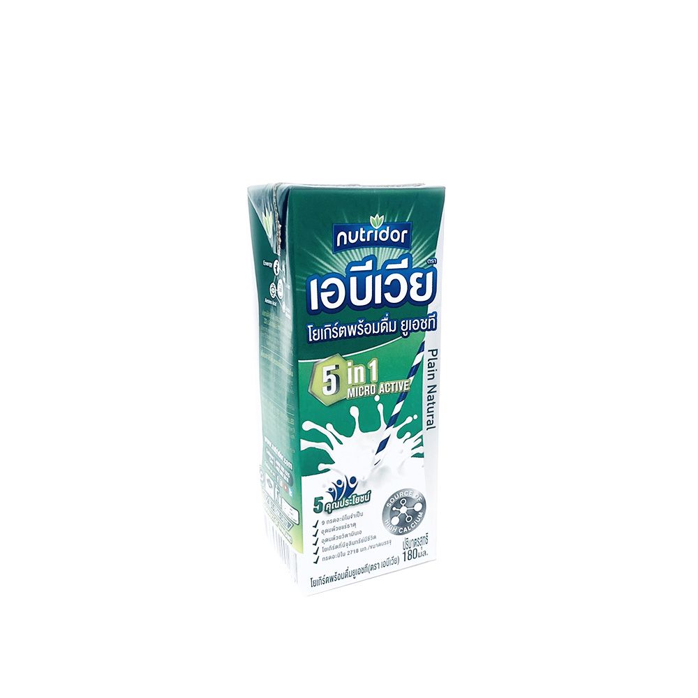 Abevia Yoghurt Plain Natural 180ml